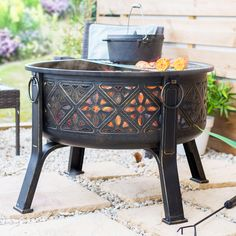 The Moors dominated Spain for 800 years and their culture is still very much apparant, which is why the design of the Moresque Firepit exhibits so clearly that longstanding influence. Rim Fire Pit, Wood Fire Pit, Fire Pit Grill, Steel Fire Pit, Wood Burning Fire Pit, Fire Pit Table, Moroccan Art, Moroccan Style, Fire Pit Wayfair