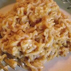 Cheesy Ramen Noodles Recipe...instead of American cheese I would probably use shreaded