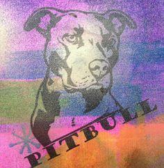 Graffiti Inspired Pit Bull  incalove