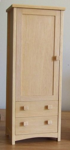 1:6 scale shaker wardrobe. Site also sells kitchen sets, dressers, bathroom sets. Great items!