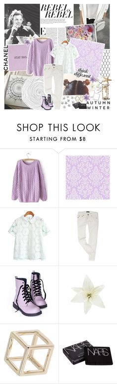 """""""but don't burn out, even if you scream and shout ♡"""" by feels-like-snow-in-september ❤ liked on Polyvore featuring Clips, Topshop, NARS Cosmetics, Match, La Femme, snowinseptembertopsets and soznotsoz"""