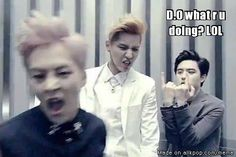 omo yeah..while everybody looks at D.O there is a superultramega DERP Xiumin and Kris omagash loooool