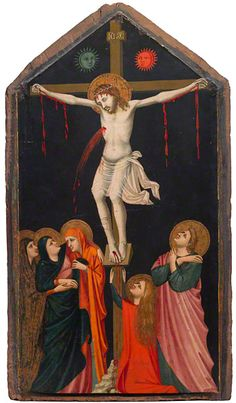 The Crucifixion, 1315-20, Pacino di Bonaguida, one of the most active artists in Florence in the first half of the 14th century. Click through for audio discussion of 'Florence, the Church, and Pacino di Bonaguida.'
