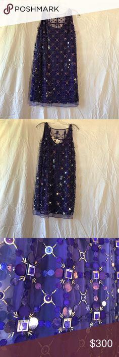 Milly dress Size 4, purple sequin sleeveless dress Milly Dresses Mini