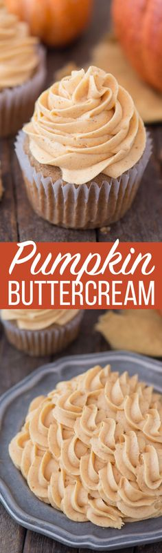 No fail pumpkin buttercream recipe with only 5 ingredients! No fail pumpkin buttercream recipe with only 5 ingredients! Pumpkin Frosting Recipe, Buttercream Recipe, Frosting Recipes, Cupcake Recipes, Dessert Recipes, Paleo Dessert, Cupcakes, Cupcake Cakes, Pumpkin Recipes