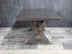 STEEL X BASE TABLE #W443 | Big Daddy's Antiques