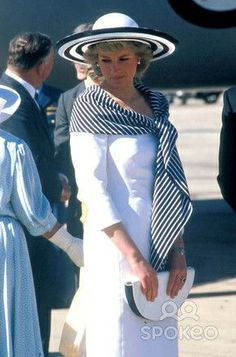 The Princess of Wales during the 1988 royal tour of Australia