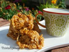 No Bake Coconut Scotchies | This Lady's House
