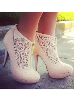Blush Lace Booties ♥