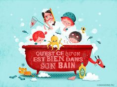 Illustration by Amandine Piu. Don't know what it says, but its cute.