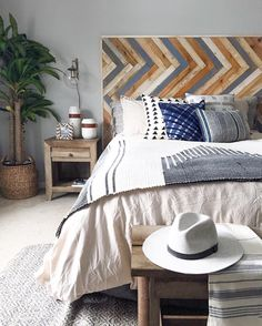 """863 Likes, 21 Comments - Jenni Radosevich (@ispydiy) on Instagram: """"I just had to show a sneak peek of the DIY headboard installed!! I am in love  And for those…"""""""