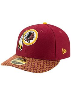 New Era Redskins 2017 Sideline Low Crown 59FIFTY Fitted Hat Redskins Logo 8f4e12ecf