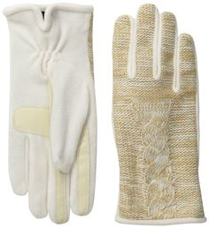 Isotoner Women's Smartouch Marled Cable Glove with Thermaflex, Ivory, X-Small/Small. Isotoner signature gloves with smart touch feature invisible touchscreen enabled technology. The unique design allows for pinpoint accuracy. Non-slip palm improves grip for secure handling of devices. Isotoner's signature stretch materials ensure superior fit and flexibility. Thermaflex lining is thicker on the back of the hand for increased warmth and less restrictive on the palm for superior flexibility.