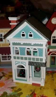 1990 HOLIDAY HOME NOSTALGIC HOUSES AND SHOPS  HALLMARK ORNAMENT