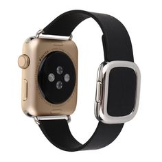 BonTech Soft Leather Band with Metal Buckle for Apple Watch (38mm Black) ^^ Insider's special review you can't miss. Read more  : Travel Gadgets