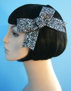 The Big Glitter Bow Hair Clip Accessory by Cutie by CutieDynamite, $25.00