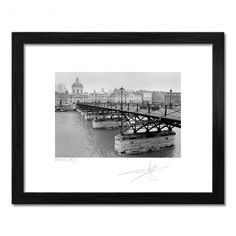 Bridge in Paris, black and white