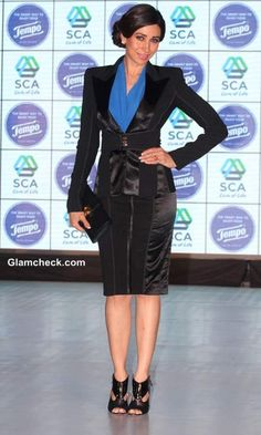 Business Style Inspiration – Karisma Kapoor Shows How to Wear a Panelled Skirt-Suit