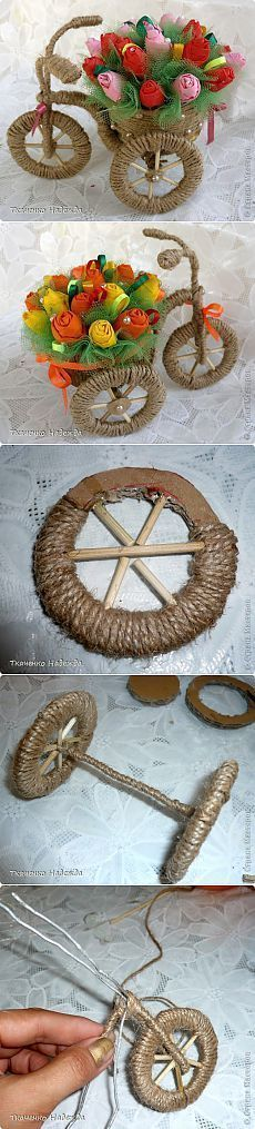 23 Clever DIY Christmas Decoration Ideas By Crafty Panda Hobbies And Crafts, Diy And Crafts, Arts And Crafts, Jute Crafts, Paper Crafts, Craft Projects, Projects To Try, Art N Craft, Flower Crafts