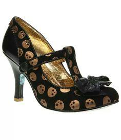 Skull kitten heels
