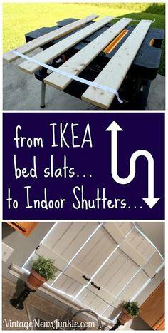 Aus Ikealattenrost Fensterläden gemacht
