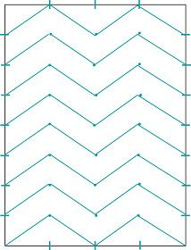 "DIY: Chevron Canvas  {used this tutorial today and it worked great! I painted on a 16x20 canvas and adjusted my marks to 2""x2.5""}"