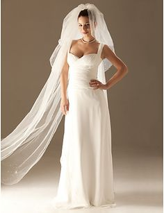 3 Layers Cathedral Length Wedding Veil