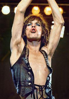 Mick Jagger, LA 1975, by David Stratford. The Rolling Stones.