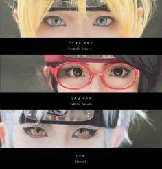 4 gambar cosplay Boruto, Sarada, Mitsuki Anime Boruto