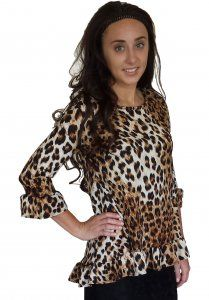 Ruffle Hem Tunic - Animal Print $25