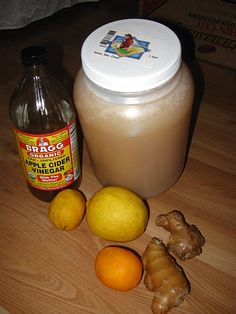 ( ginger, honey, lemon, apple cider vinegar )  I like to add cinnamon to this winter hot brew!   Tealightfullyours