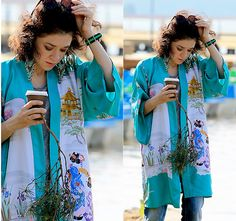 More looks by Ola Nagel: http://lb.nu/olanagel  #japan #style #kimono #jeans…