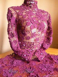 Платье *Каролина* выполнена в технике ирландского кружева. Обсуждение на LiveInternet - Российский Сервис Онлайн-Дневников