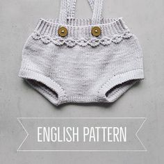 ▸ ENGLISH ◂ version in the tiddelibom shop { link in bio } #vaarligromper #vårligromper #knittedromper #knitforbaby #knittingpattern