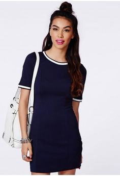 Channel a touch of Wimbledon chic in this gorgeous sporty feel shift dress. The sassy shape and contrasting ribbed hem are gorgeous and summer ready, and the crepe fabric is both interesting and easy to wear. Style it up with a pair of flat...