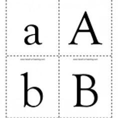 kindergarten alphabet cards