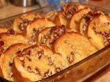 Paula Dean's Praline French Toast Casserole...Incredible!  Paula's not known for restraint in the kitchen and I, for one, applaud that (at least for this recipe)!