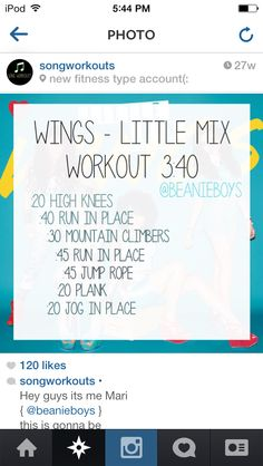 Wings Workout - fun idea to workout