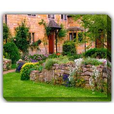 Cotswold Stone: 40 x 30 Outdoor Canvas Giclee
