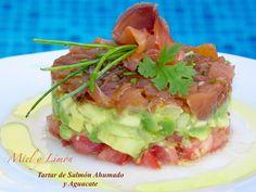 Miel y Limón Recetas Salmon Y Aguacate, Vegetarian Recipes, Healthy Recipes, Exotic Food, Sin Gluten, Starters, Entrees, Tapas, Recipies