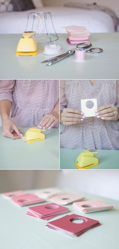 Sweet DIY Paint Swatch Chandelier
