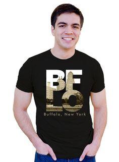 unisex men buffalo tshirt BFLO Buffalo NY by InspiredBuffalo