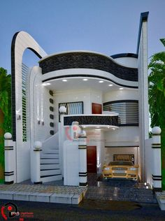 The exterior is the face of the house that everyone will see in the first part. Take a look at the world's most beautiful modern homes and find Unique House Design, House Front Design, Dream Home Design, Home Design Plans, Bungalow Haus Design, Bungalow Designs, Beautiful Modern Homes, Beautiful House Plans, Most Beautiful