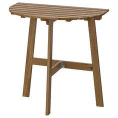 ASKHOLMEN Table for wall, outdoor, folding light brown stained light brown gray-brown stained - IKEA Outdoor Dining Furniture, Patio Dining, Outdoor Chairs, Dining Tables, Garden Furniture, Wall Table Folding, Folding Chair, Wood Supply, Table Bar