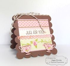 Just For You 3x3 notecard by Joan Ervin #Cardmaking, #3x3Notecards, #LittleBitsDies, #TE, #ShareJoy