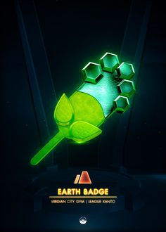 """Beautiful """"Earth Badge - metal poster created by Artkal . Our Displate metal prints will make your walls awesome. Pokemon Red, Pokemon Pins, Game Boy, Kanto Gym Badges, Rainbow Badge, Game Tester Jobs, Popular Pokemon, Gaming Posters, Video Game Anime"""
