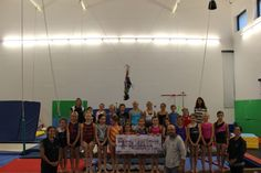 The Whistler Gymnastics Club received a donation of $10,000 from the Jack Gin Family Foundation for a new bungee belt system.