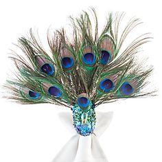 Sitting Peacock Napkin Rings - Set of 4