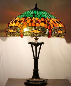 9de9687087d3 Richmond Dragonfly Tiffany Lights Table Lamp Height 26 inch Diameter 18 inch  Max Wattage 2 x Material of shade Glass Bulb