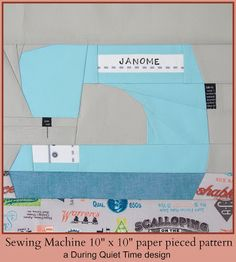 Sewing Machine Paper Pieced Block (think I'd have to change it to Singer, of course ;))
